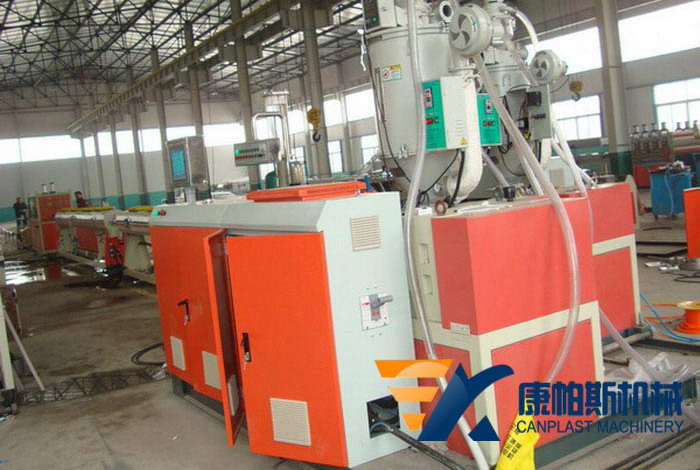 PP-R-PP-PE three-layer co-extruded pipe production line