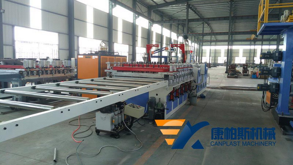 Wood Plastic furniture plate production line
