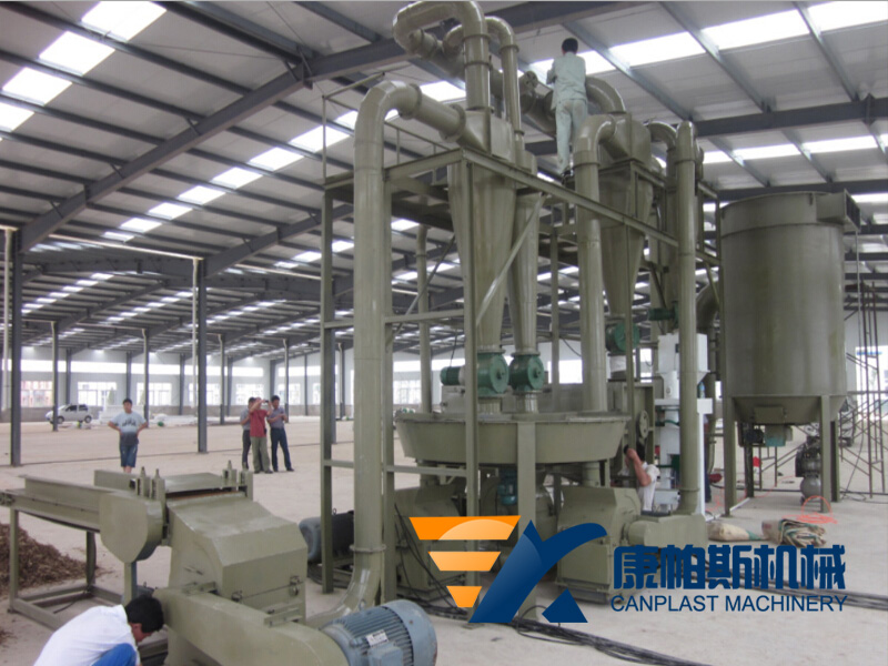Wood powder processing equipment